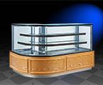 16RLM 高端定制型木纹弧形拐角蛋糕柜
