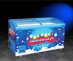 -40℃冰淇淋金枪鱼水产海鲜圆弧冷冻展示柜